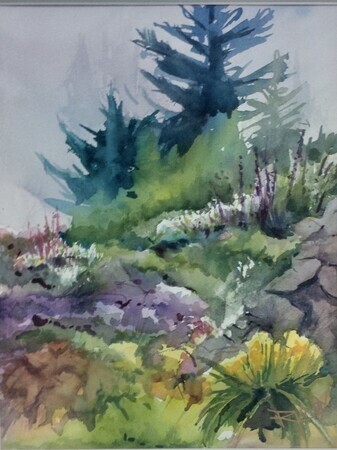 RobinKnox. Misty Morning in the Garden (sold)